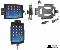 Support voiture  Brodit Apple iPad Mini 3  antivol - Support actif avec un câble USB. Chargeur approuvé par Apple. Avec rotule. 2 clefs. Réf 535584