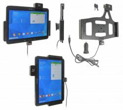 Support voiture  Brodit Samsung Galaxy Tab 4 10.1 SM-T530  antivol - Support actif avec un câble USB et un rotule. 2 clefs. Réf 535632