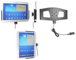 Support voiture  Brodit Samsung Galaxy Tab 3 10.1 GT-P5200  avec chargeur allume cigare - Avec rotule. Avec câble USB. Réf 521549
