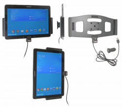 Support voiture  Brodit Samsung Galaxy Tab PRO 10.1 LTE SM-T525  avec chargeur allume cigare - Avec rotule. Avec câble USB. Réf 521608