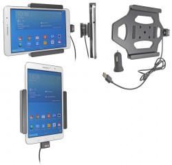 Support voiture  Brodit Samsung Galaxy Tab PRO 8.4 SM-T320  avec chargeur allume cigare - Avec rotule. Avec câble USB. Réf 521616