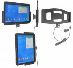Support voiture  Brodit Samsung Galaxy Tab 4 10.1 SM-T530  avec chargeur allume cigare - Avec rotule. Avec câble USB. Réf 521632