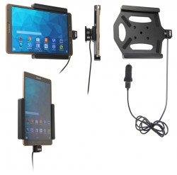 Support voiture  Brodit Samsung Galaxy Tab S 8.4 SM-T700  avec chargeur allume cigare - Avec rotule. Avec câble USB. Réf 521652