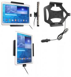 Support voiture  Brodit Samsung Galaxy Tab S 10.5 SM-T800  avec chargeur allume cigare - Avec rotule. Avec câble USB. Réf 521653