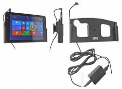 Support voiture  Brodit Dell Venue 8 Pro  installation fixe - Avec rotule, connectique Molex. Chargeur 2A. Réf 215705