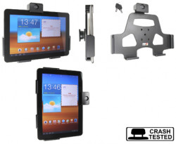 Support voiture  Brodit Samsung Galaxy Tab 10.1 GT-P7500  antivol - Support passif avec rotule. 2 clefs. Réf 539329