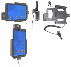 Support voiture  Brodit Samsung Galaxy Tab 4 8.0 SM-T335  antivol - Support actif avec allume-cigare. Avec rotule. Avec serrure, 2 clés. Réf 535637