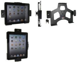 Support voiture  Brodit Apple iPad 1  antivol - Avec un connecteur pour cordons et pivot inclinable. 2 clefs. Bouton de la maison cachée. Réf 538139