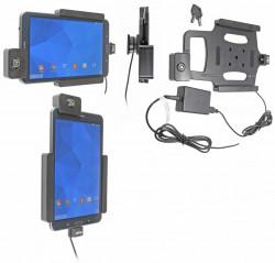 Support voiture  Brodit Samsung Galaxy Tab 4 8.0 SM-T335  antivol - Support actif pour une installation fixe. Avec rotule. Avec serrure, 2 clés. Réf 536637