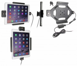Support voiture Brodit Apple iPad Air 2 antivol - Support actif pour une installation fixe. Avec rotule. Avec serrure, 2 clés. Réf 536684
