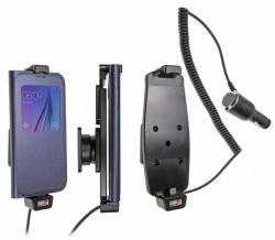 Support voiture Brodit Samsung Galaxy S6/S7 avec chargeur allume cigare - Avec rotule. Convient appareils avec étui Réf 512724