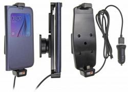 Support voiture Brodit Samsung Galaxy S6/S7 avec chargeur allume cigare - Avec rotule. Avec câble USB. Convient appareils avec étui Réf 521724