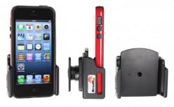 Support voiture Brodit réglable passif avec rotule pour iPhone 5 - Support réglable. Pour appareil avec étui de dimensions: Larg: 62-77 mm, épaiss.: 6-10 mm. Réf 511428