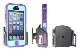 Support voiture  Brodit Apple iPhone 5  passif avec rotule - Support réglable. Convient dispositifs avec un étui de dimensions: 62-77 mm, épaiss.: 9-13 mm. Réf 511430