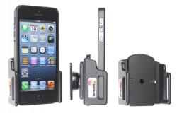 Support voiture  Brodit Apple iPhone 5  passif avec rotule - Support réglable. Pour appareil avec étui de dimensions: Larg: 59-63 mm, épaiss.: 6-10 mm. Utilisation avec câble Apple Lightning vers 30 broches Réf 511431